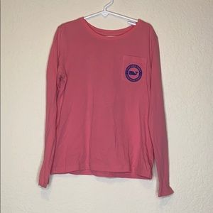 Hot pink Vineyard Vines LS